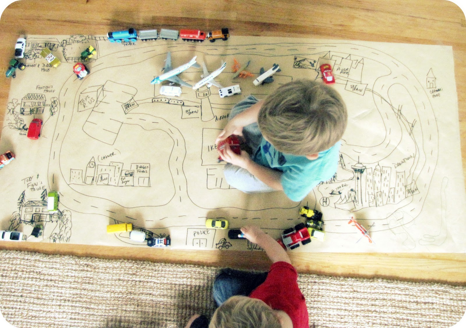 My House Of Giggles A Diy Kraft Paper Car Mat Anything