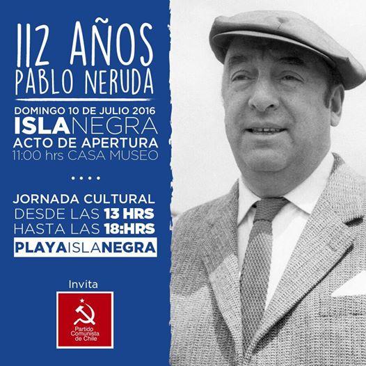 112 AÑOS PABLO NERUDA