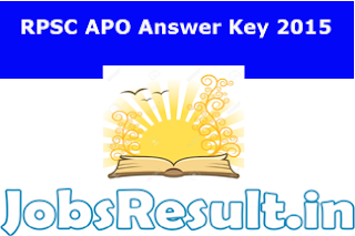 RPSC Rajasthan APO Answer Key 2015