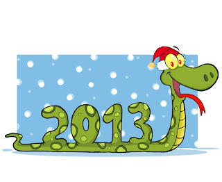 干支の蛇のイラスト cartoon and stylized snake illustrations 2013 New Year  イラスト素材1