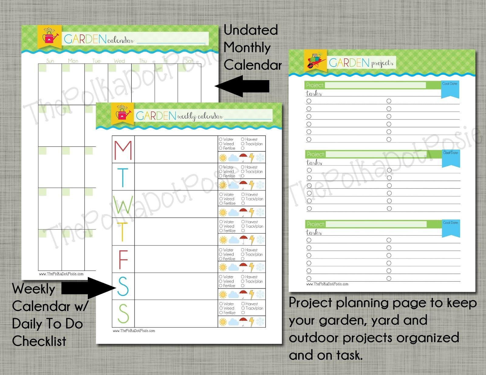 garden planner calendar
