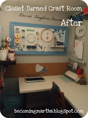 I Finished My Craft Room U2013 Or Should I Say Craft Closet? Itu0027s The Walk In  Closet In Our Guest Room, So Itu0027s A Bit Of Both. It Measures 5×9, ...