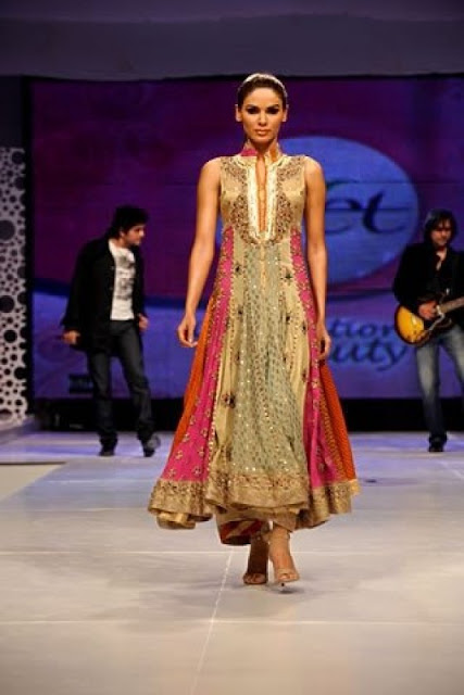 Fashion Shows Churidar Pajama with Anarkali Frok