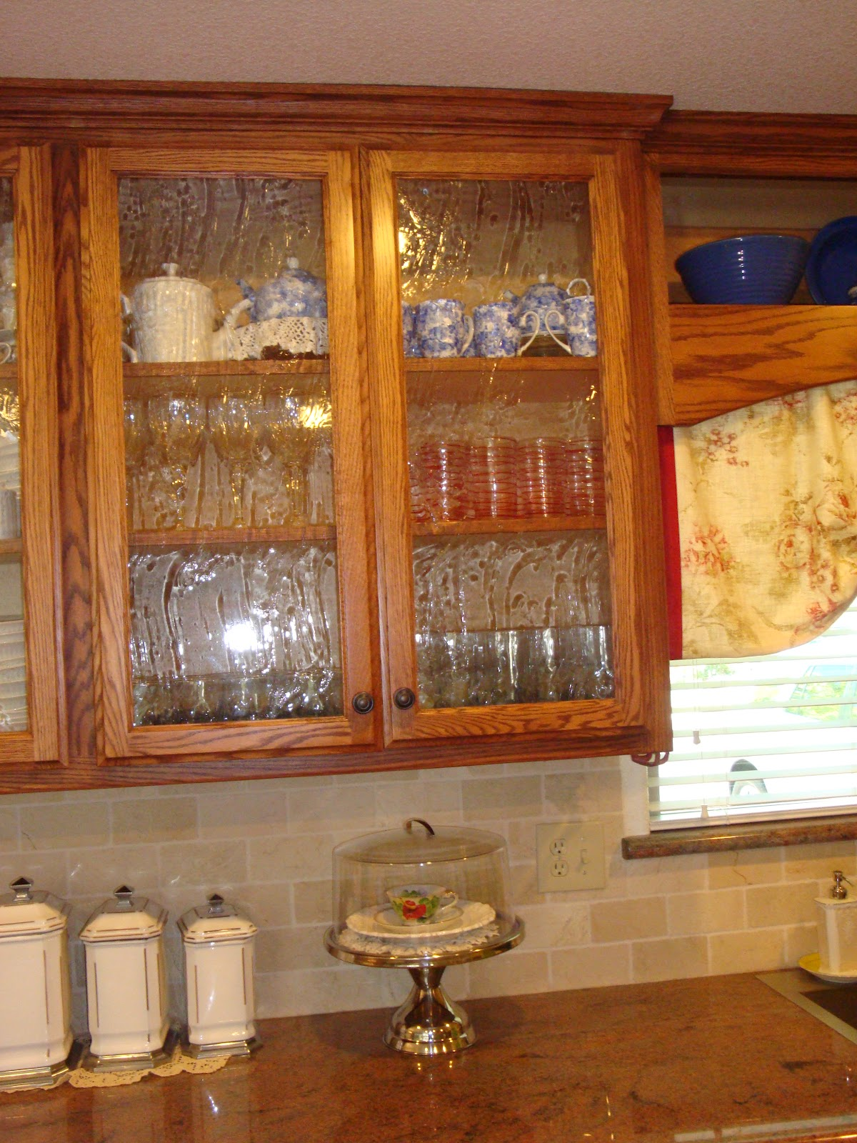 Home Is Where The Heart Is  Seeded Glass In The Kitchen - Bubble glass kitchen cabinet doors