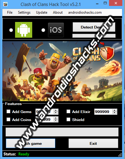 aio hacks presents clash of clans hack tool v5 2 1