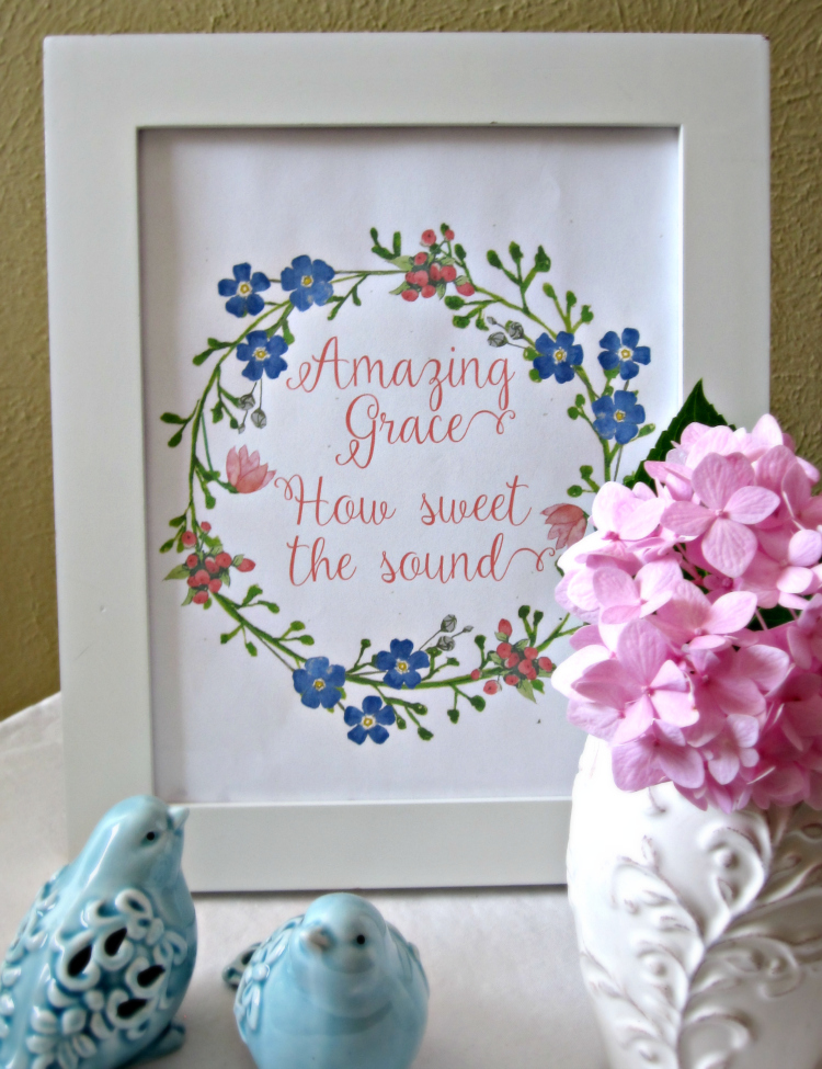 Amazing Grace Wreath Printable