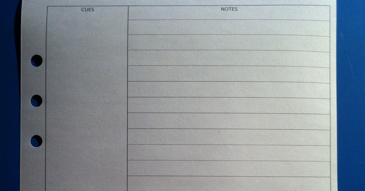 My Life All In One Place Cornell Notes Templates For The