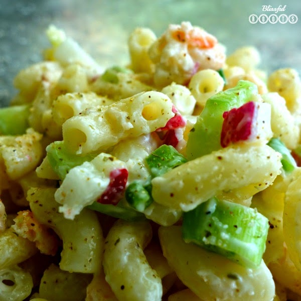 Shrimp Pasta Salad @ Blissful Roots