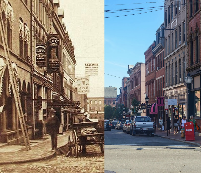 Portland, Maine Then and Now photo exchange street photo by corey templeton