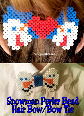 Create some fun family time with the kids making perler bead projects.  These snowman bow tie patterns are a fun way to add a little pizazz as a perler bead hair bow or bow tie.  With step by step directions, you and the kids will be encouraging creativity and fun tonight.