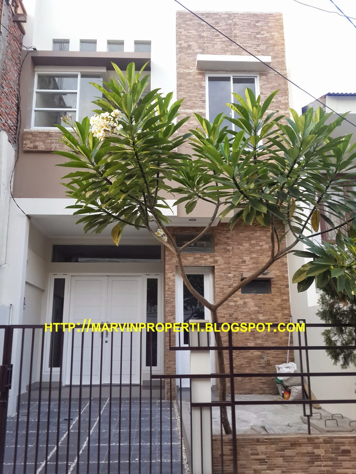 Rumah Dijual Sunter Karya Selatan 4 kamar tidur brand new tampak depan november 2014