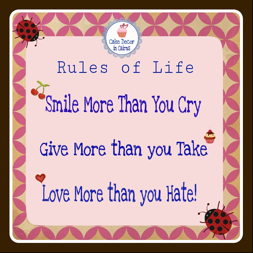 smile more than you cry give more than you take  love more than you hate quote free to repost