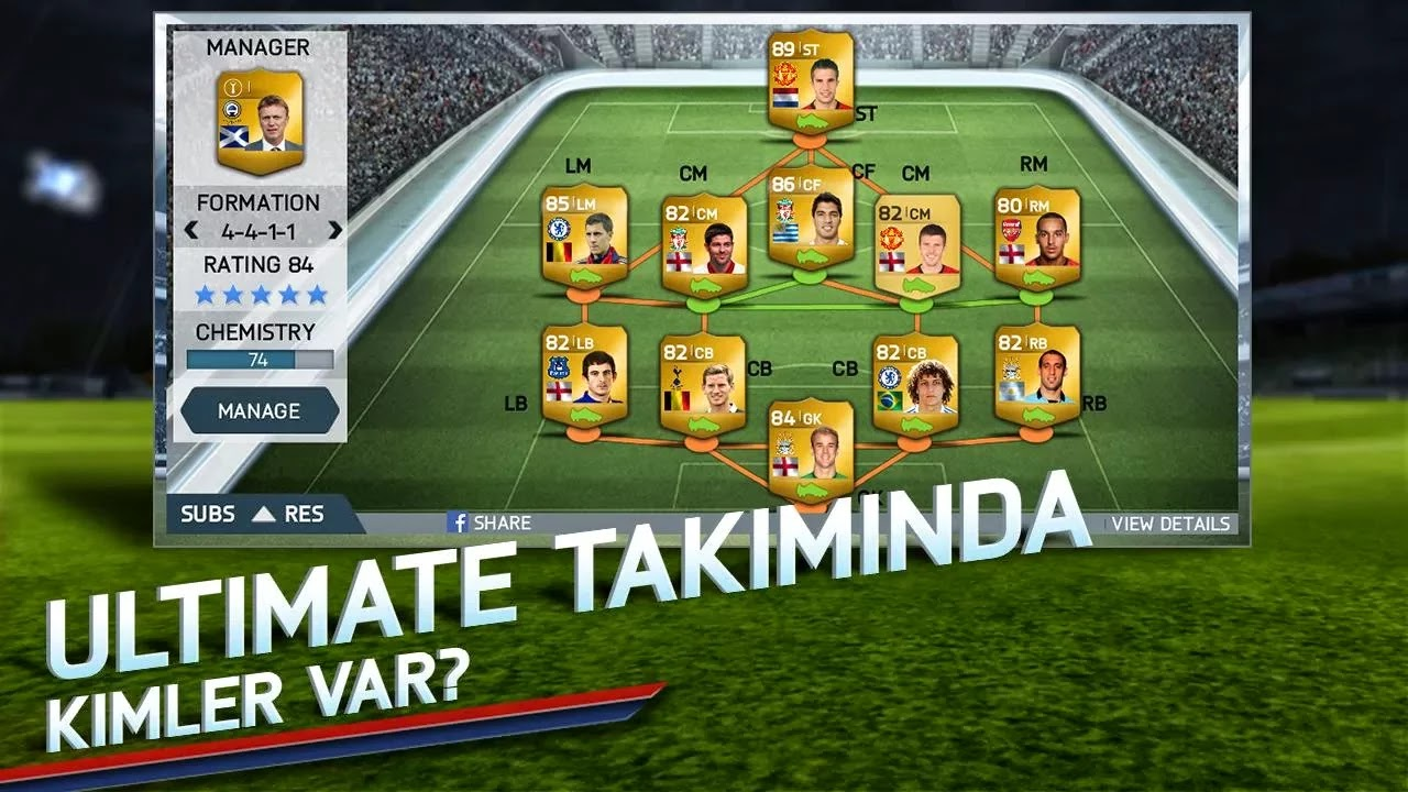 Android FIFA 14 Apk resimi 3