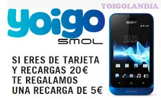 saldo gratis yoigo tiendas smol 28 al 31 enero 2013