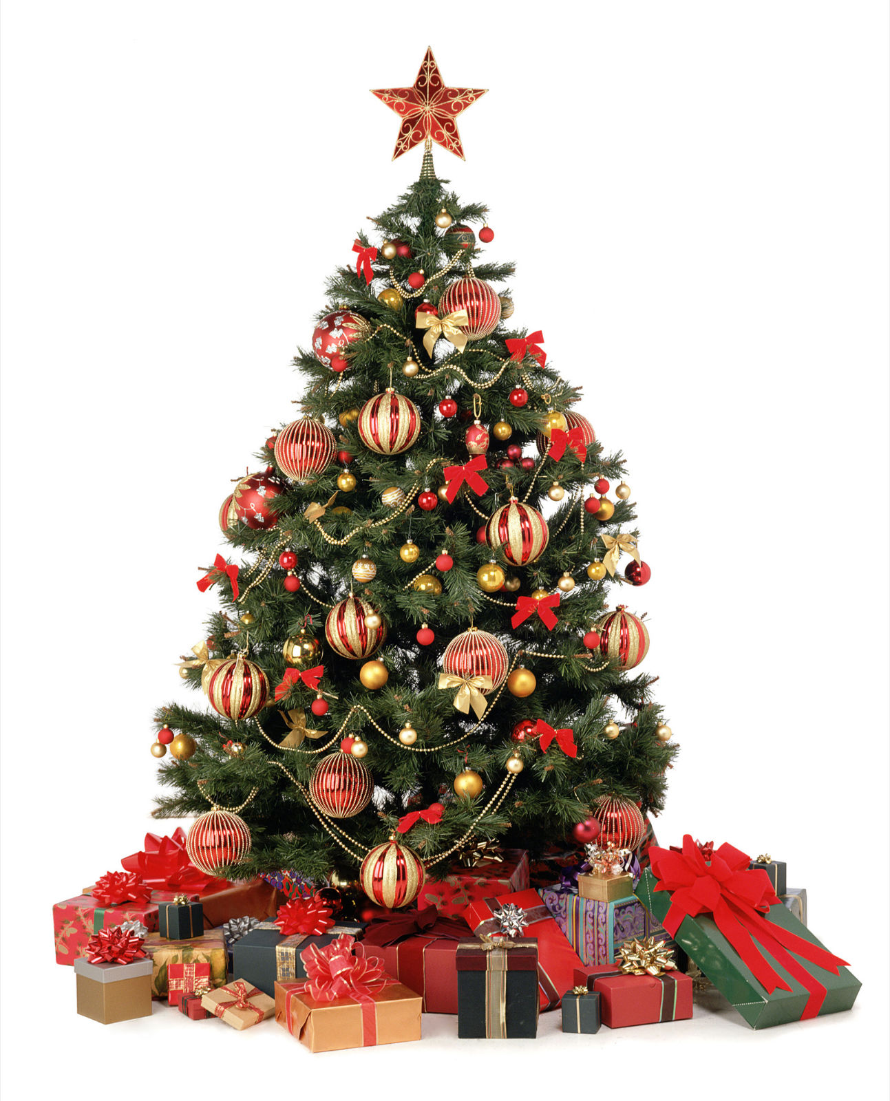 Como adornar arboles de navidad naturales