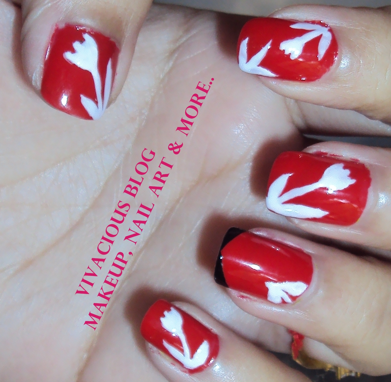 Vivacious Blog: Carey Mulligan\'s Red Dress : Nail Art