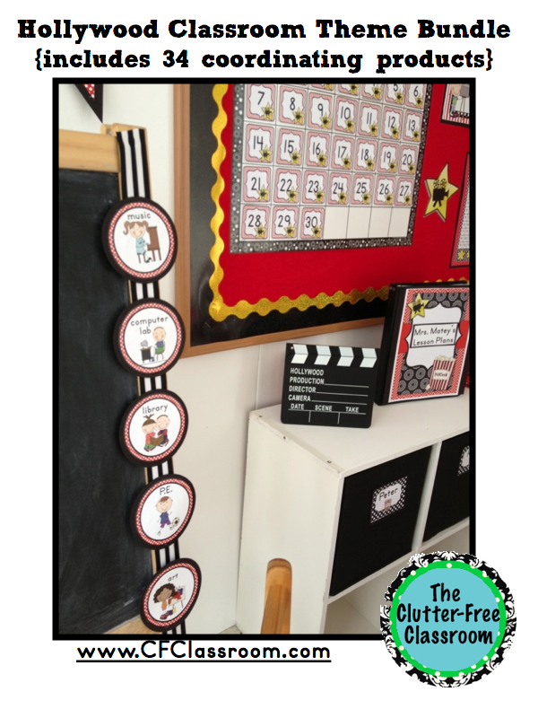 Hollywood Classroom Decor ~ Hollywood themed classroom photos printables and ideas