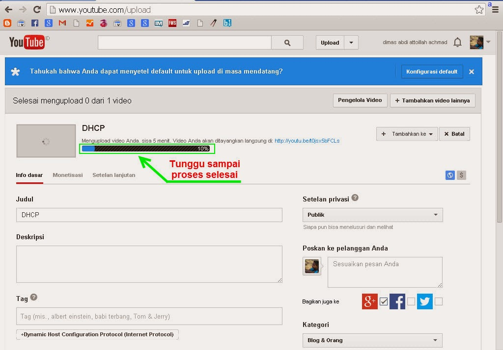 Cara Upload Video Di Youtube