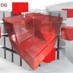 3D Cube Clock Widget