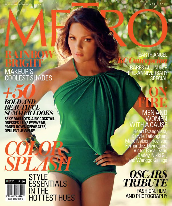 Kc Concepcion Goes Green For Metro Magazine April 2011 Issue