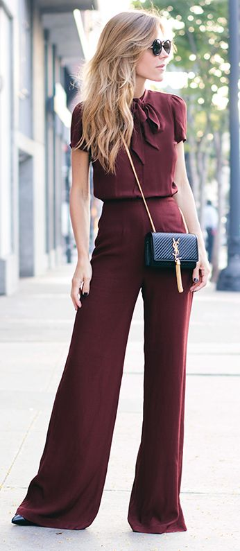 New glamour maroon outfit fashion style