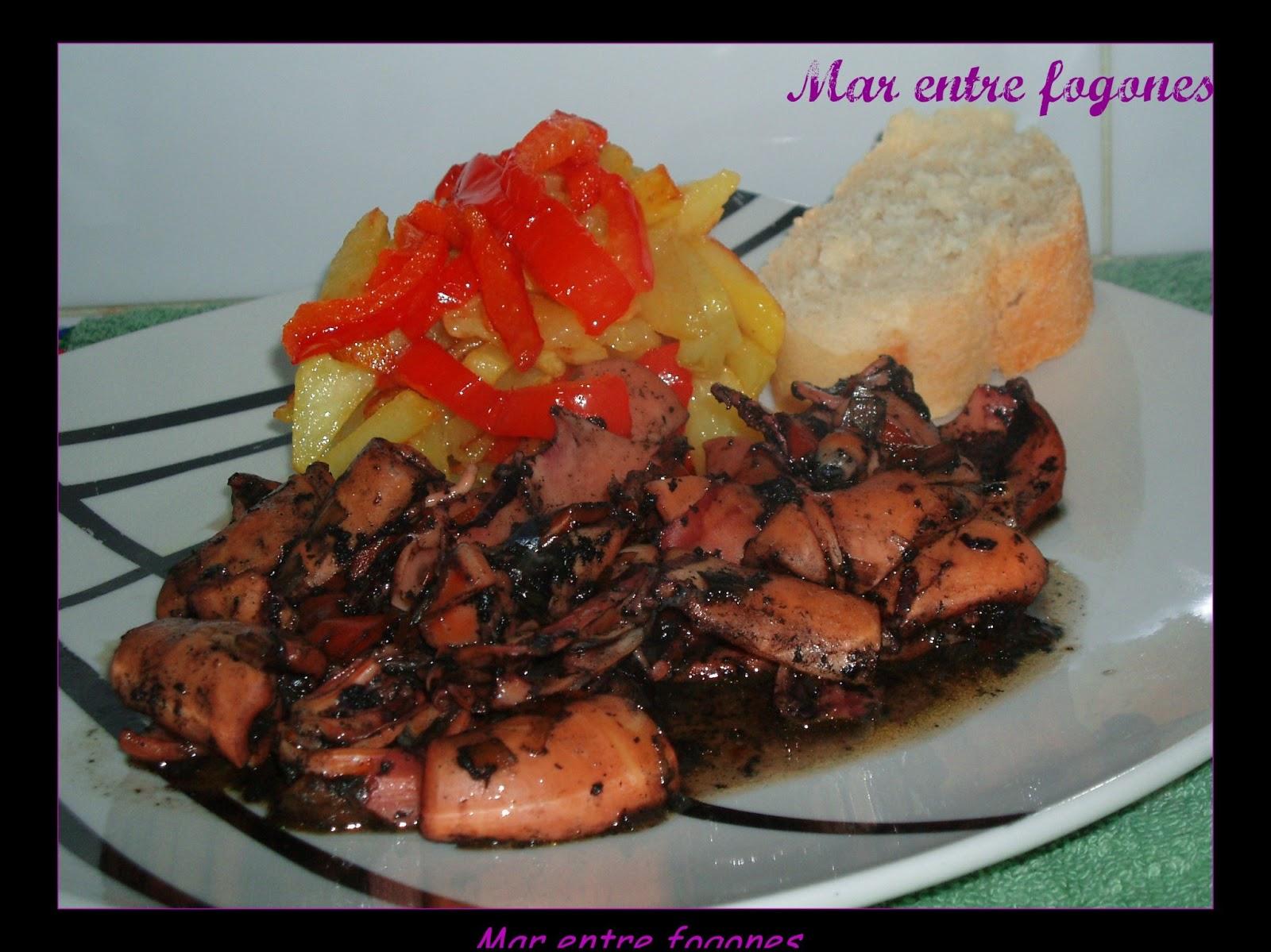 Calamares en tinta en olla express cocina for Cocinar con olla express