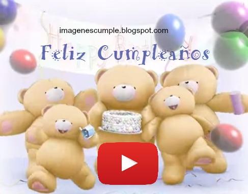 Video de cumpleaños, tierno osito, imagen de cumpleaños, tarjeta en video, te queremos. forever friends video.