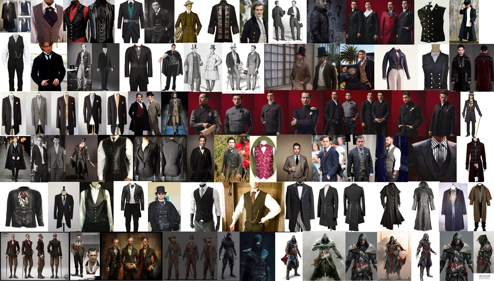 Character Design Mood Board : David paget ma concept art jack couvela brief assassin s