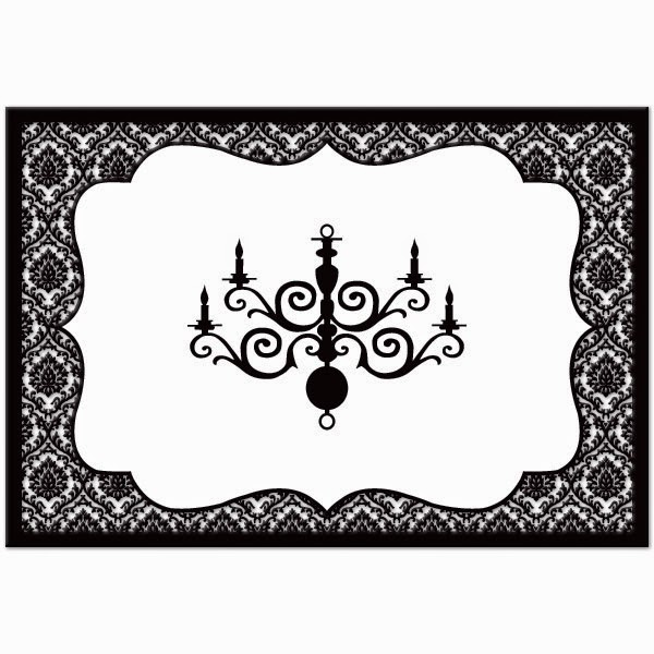 black and white damasks free printable toppers and labels oh my