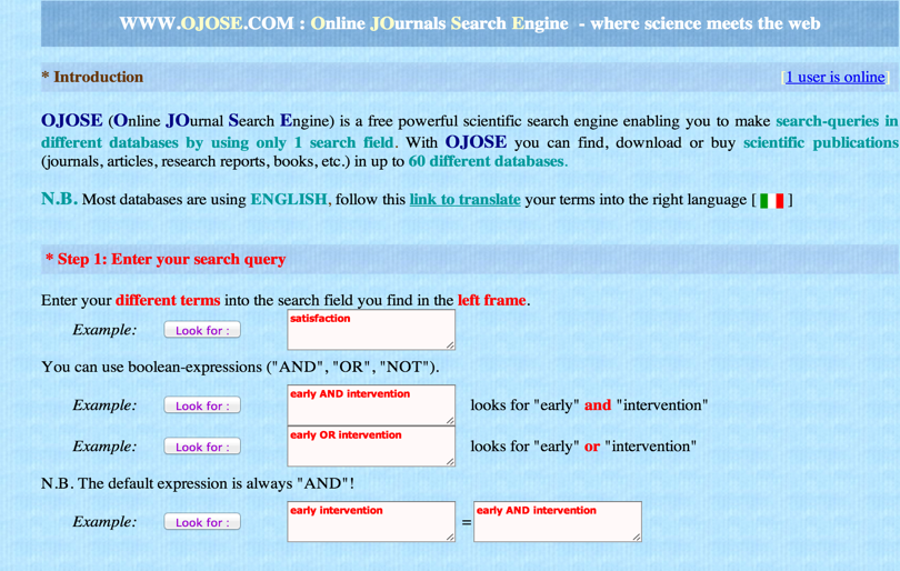 Scientific articles search engine