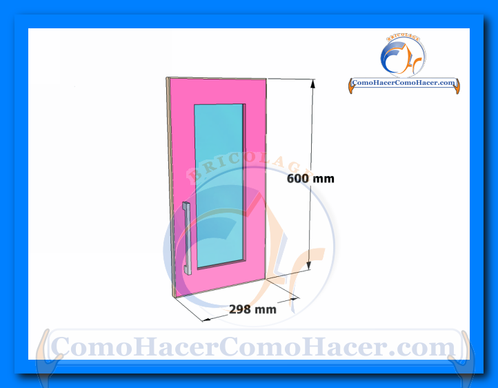 Puertas de muebles de cocina web del bricolaje dise o diy - Medida de puertas ...