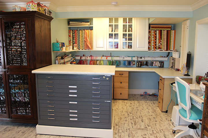 Flat file countertop Craft room studio makeover remodel Samantha Walker blog