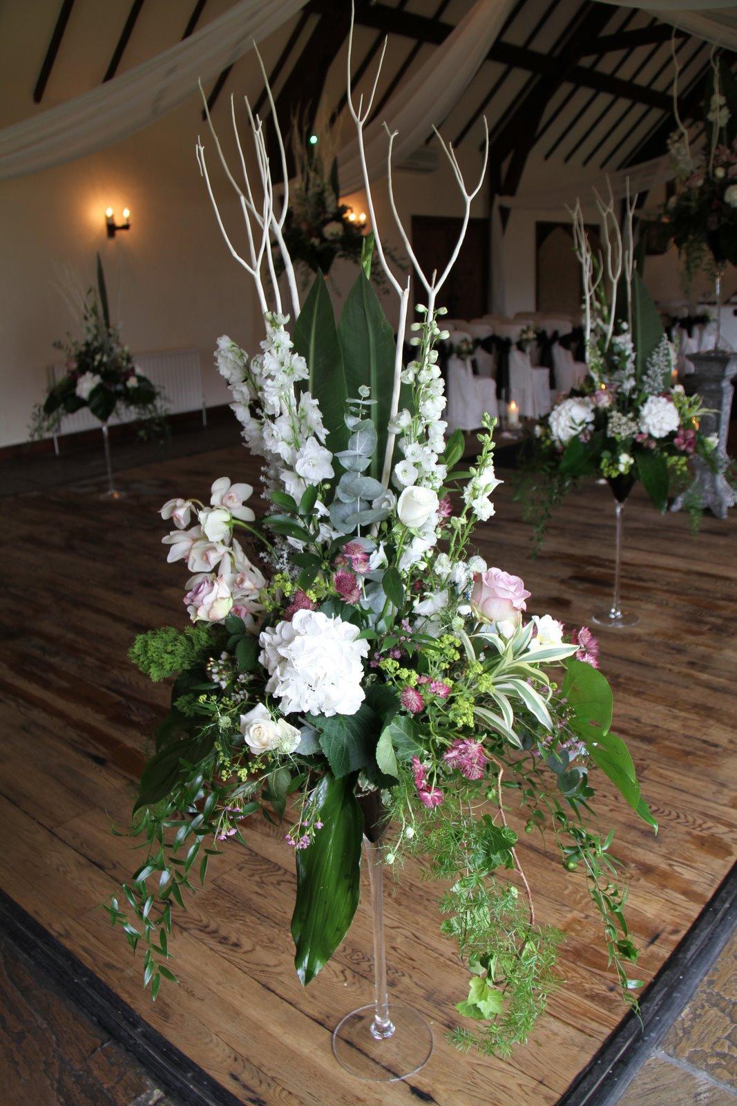 Flower Design Wedding Ceremony Styling Giant Martini