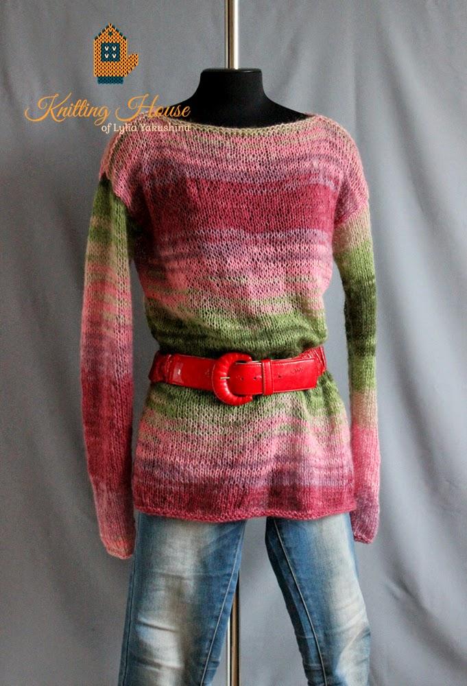 джемпер, пуловер, кофта, свободный джемпер, вязаный джемпер, джемпер спицами, разноцветный джемпер, джемпер мохеровый, джемпер купить, джемпер заказать