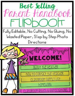 https://www.teacherspayteachers.com/Product/Best-Selling-Parent-Handbook-Flipbook-for-Open-House-Fully-Editable-687228