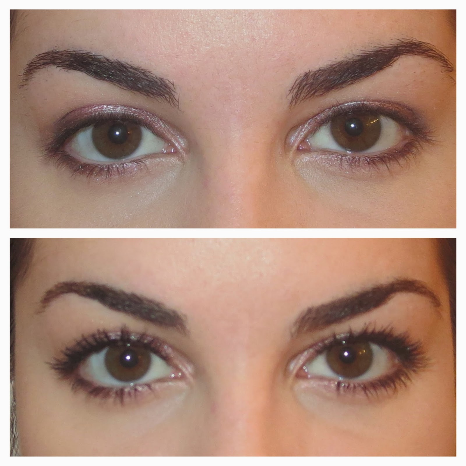 a picture of Before & After Maybelline Lash Sensational