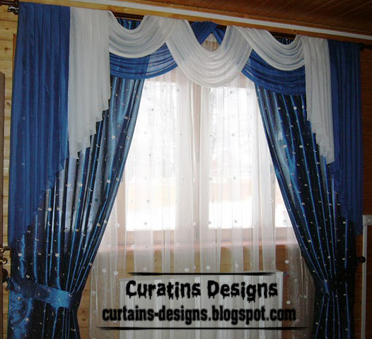 Unique Draperies Blue Bedroom Curtain Design Patterned Curtain