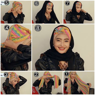 Gambar Tutorial Memakai Hijab Pesta Modern Model Terbaru