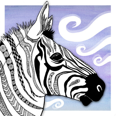 Patterned Zebra illustration