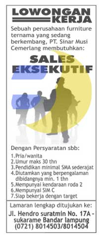 Recruitment PT. Sinar Musi Cemerlang, Lowonga Kerja Lampung, Kamis 19 Maret 2015 Terbaru di Lampung