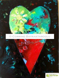 red heart painting copyrighted