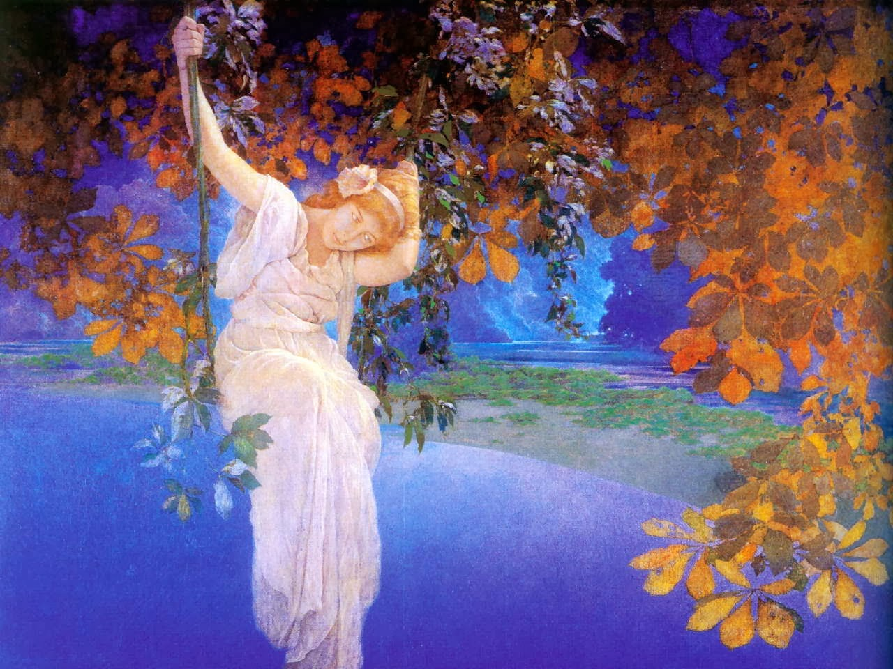 Split complementary illustration unit maxfield parrish for Making prints of paintings