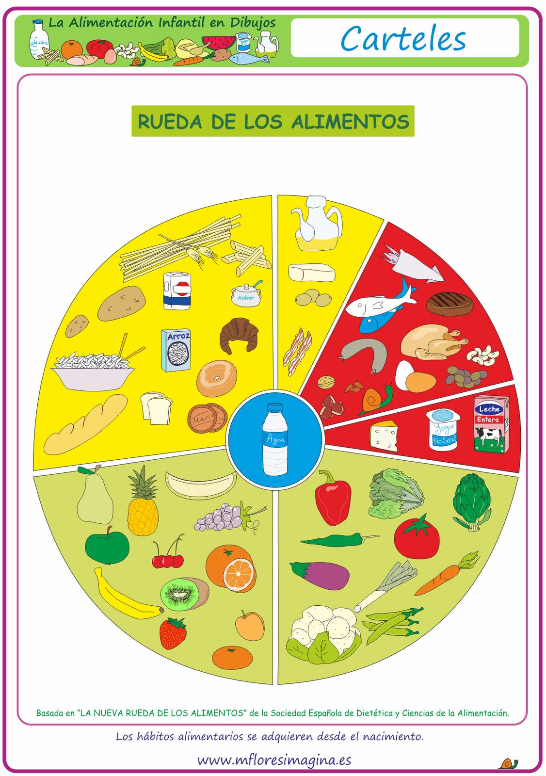 La alimentaci n en dibujos rueda de los alimentos for La cocina de los alimentos pdf
