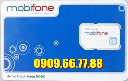 Sim số đẹp Mobifone 0909 66 77 88