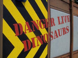 Dinosaur Safari Adventure Golf Course at the A1 Driving Range in Arkley, Hertfordshire