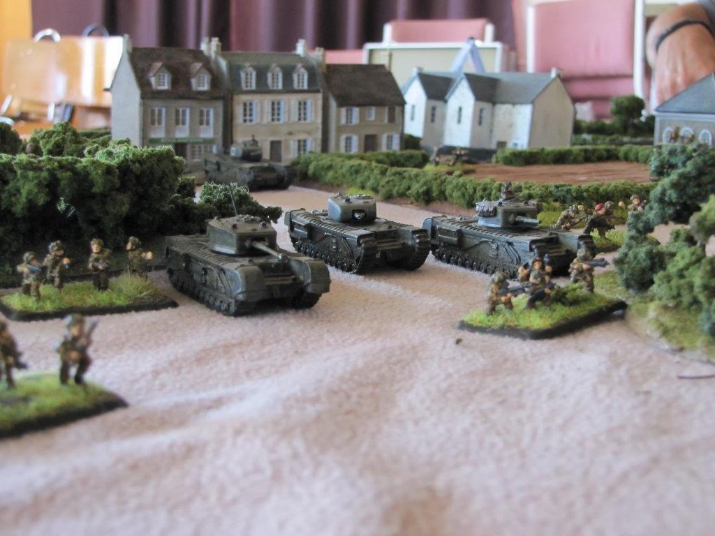 Churchills and paras advance