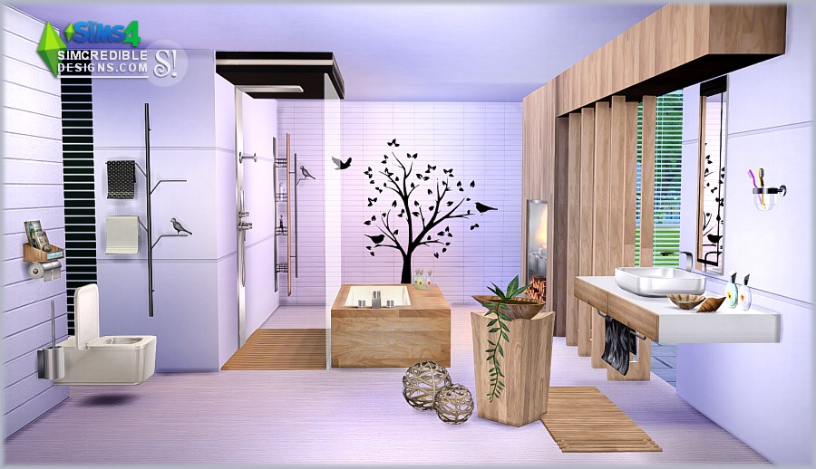 my sims 4 blog modernism bathroom set by simcredible designs