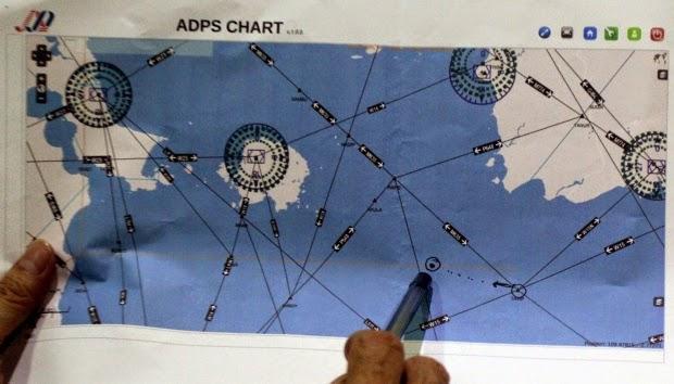 Mentukan Kordinat Pencarian Pesawat Air Asia QZ8501