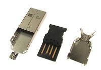 Wtyczka USB, przydatna gdy już będziesz na nieco wyższym poziomie projektując układy współpracujące z komputerem.