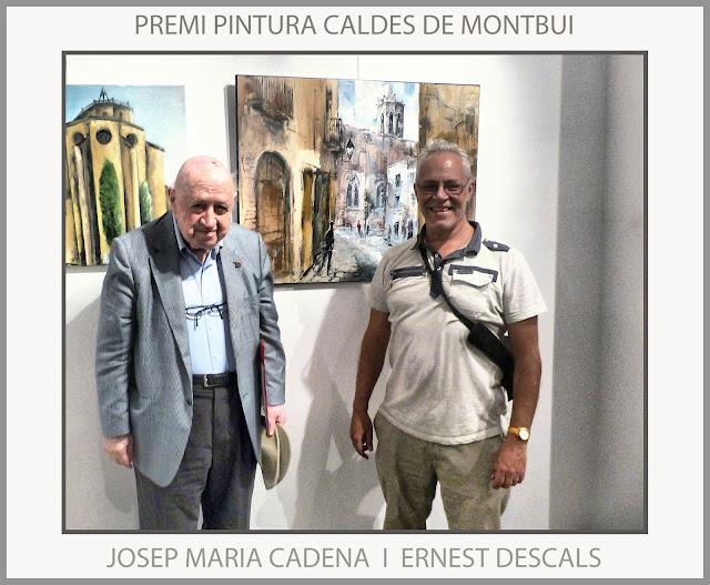 CALDES MONTBUI-PINTURA-JOSEP MARIA CADENA-CRITCS-ART-CATALUNYA-JURAT-PREMIS-PINTOR-ERNEST DESCALS-